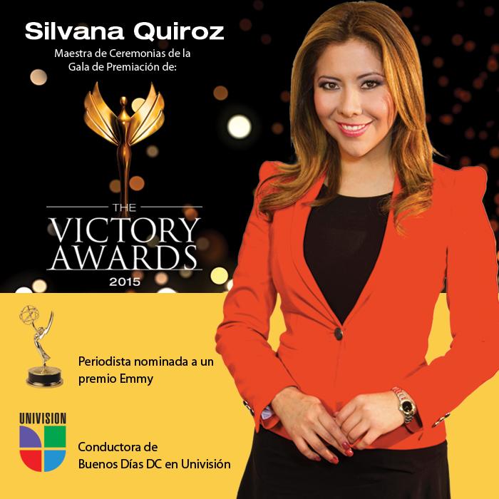 Silvana Quiroz de Univisión será la Maestra de Ceremonias de la Gala de The Victory Awards 2015