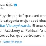 Beatriz Gutiérrez Muller - Napolitan Victory Awards - Napolitans